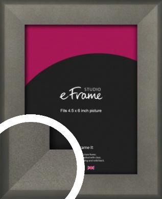 Graphite Grey Picture Frame, 4.5x6