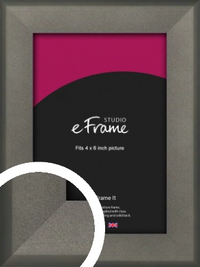 Graphite Grey Picture Frame, 4x6