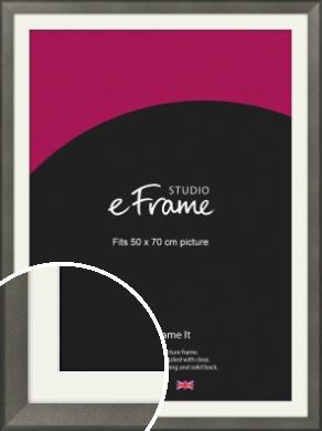 Graphite Grey Picture Frame & Mount, 50x70cm (VRMP-756-M-50x70cm)