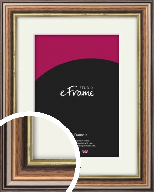 Dramatic Brown Picture Frame & Mount (VRMP-517-M)