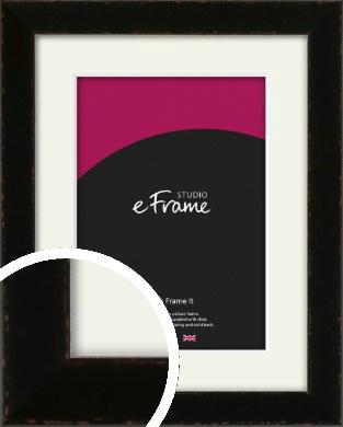 Textured Glossy Black Picture Frame & Mount (VRMP-993-M)