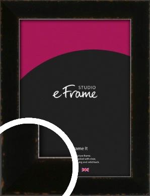 Textured Glossy Black Picture Frame (VRMP-993)