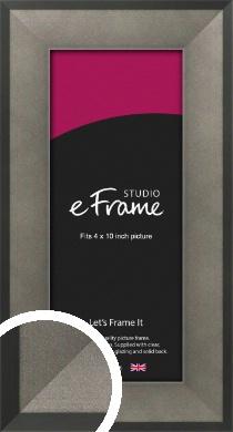 Graphite Grey Picture Frame, 4x10