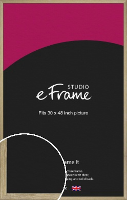 Authentic Light Natural Wood Picture Frame, 30x48
