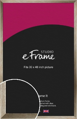 Nickel Effect Silver Picture Frame, 30x48