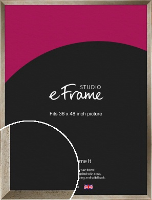 Nickel Effect Silver Picture Frame, 36x48