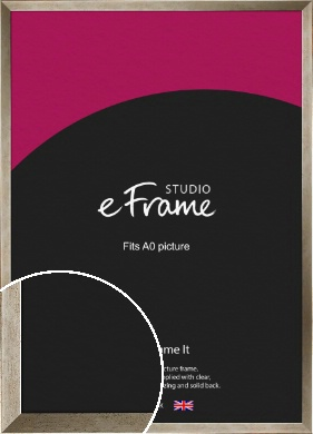 Nickel Effect Silver Picture Frame, A0 (841x1189mm) (VRMP-183-A0)