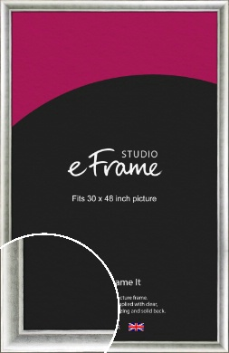 Fashionable Silver Picture Frame, 30x48