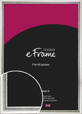 Fashionable Silver Picture Frame, A0 (841x1189mm) (VRMP-1000-A0)