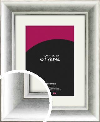 Fashionable Silver Picture Frame & Mount (VRMP-1000-M)