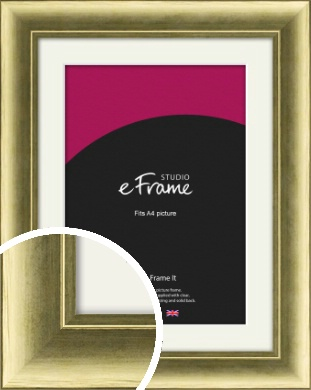 Luxe Gold Picture Frame & Mount, A4 (210x297mm) (VRMP-1001-M-A4)