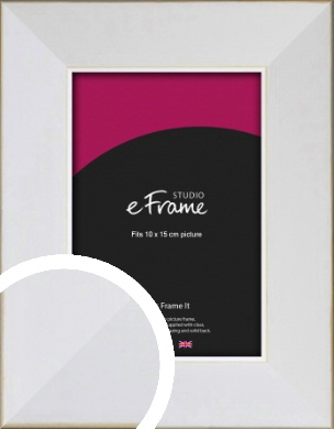 Easy Going Timeless White Picture Frame, 10x15cm (4x6