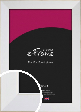 Easy Going Timeless White Picture Frame, 10x15