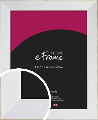 Easy Going Timeless White Picture Frame, 11x14