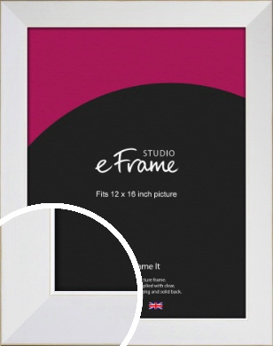 Easy Going Timeless White Picture Frame, 12x16