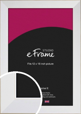 Easy Going Timeless White Picture Frame, 12x18