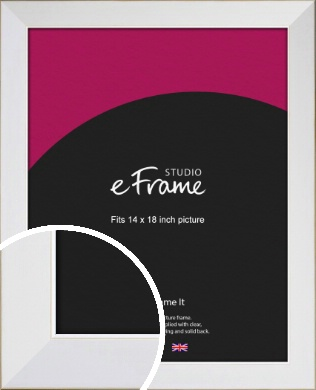 Easy Going Timeless White Picture Frame, 14x18