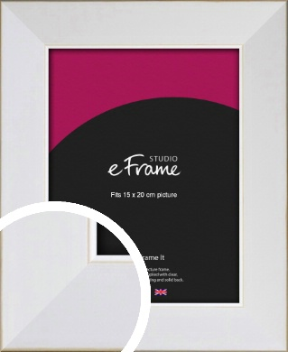 Easy Going Timeless White Picture Frame, 15x20cm (6x8