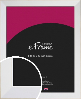 Easy Going Timeless White Picture Frame, 16x20