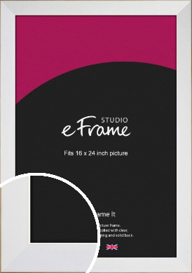 Easy Going Timeless White Picture Frame, 16x24