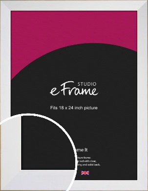 Easy Going Timeless White Picture Frame, 18x24