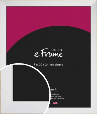 Easy Going Timeless White Picture Frame, 20x24