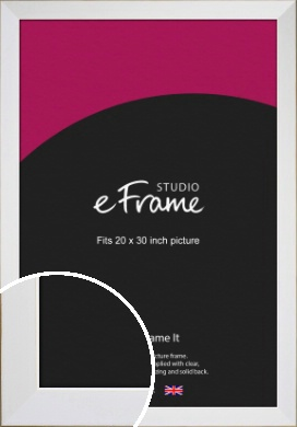 Easy Going Timeless White Picture Frame, 20x30