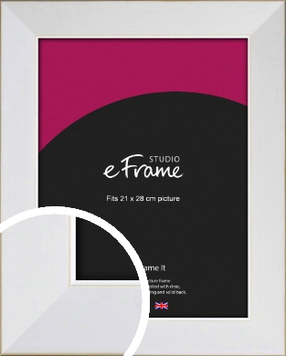 Easy Going Timeless White Picture Frame, 21x28cm (VRMP-1003-21x28cm)