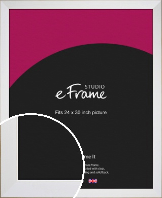 Easy Going Timeless White Picture Frame, 24x30