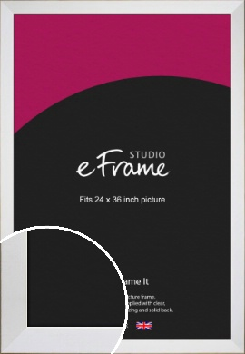 Easy Going Timeless White Picture Frame, 24x36