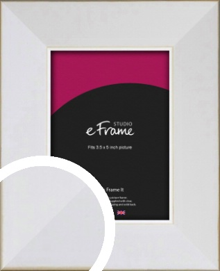 Easy Going Timeless White Picture Frame, 3.5x5