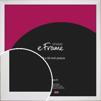 Easy Going Timeless White Picture Frame, 30x30