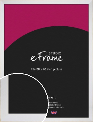 Easy Going Timeless White Picture Frame, 30x40