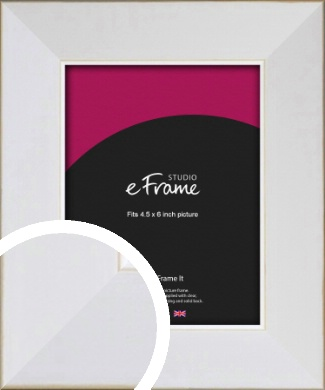 Easy Going Timeless White Picture Frame, 4.5x6