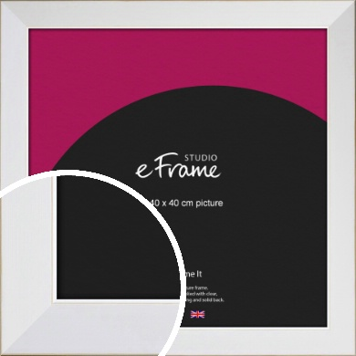 Easy Going Timeless White Picture Frame, 40x40cm (VRMP-1003-40x40cm)