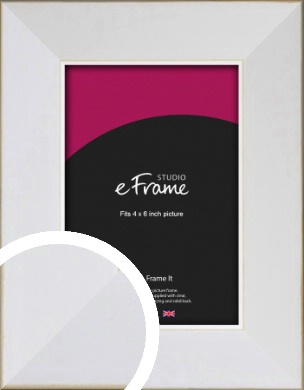 Easy Going Timeless White Picture Frame, 4x6