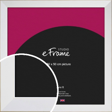 Easy Going Timeless White Picture Frame, 50x50cm (VRMP-1003-50x50cm)