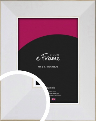 Easy Going Timeless White Picture Frame, 5x7