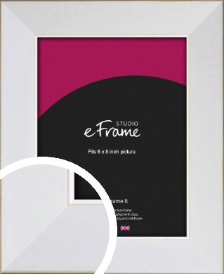 Easy Going Timeless White Picture Frame, 6x8