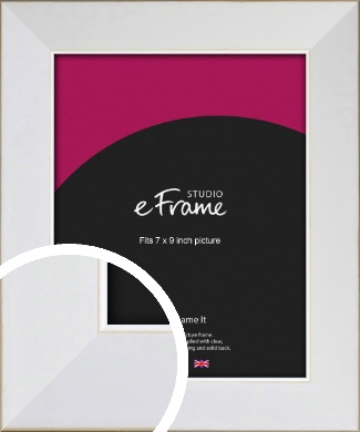 Easy Going Timeless White Picture Frame, 7x9