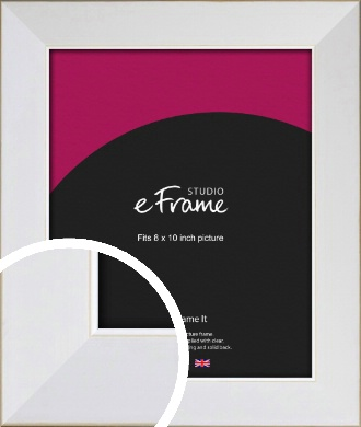 Easy Going Timeless White Picture Frame, 8x10