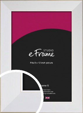 Easy Going Timeless White Picture Frame, 8x12