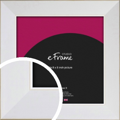 Easy Going Timeless White Picture Frame, 8x8