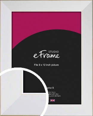 Easy Going Timeless White Picture Frame, 9x12