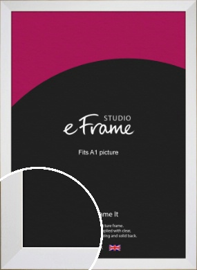 Easy Going Timeless White Picture Frame, A1 (594x841mm) (VRMP-1003-A1)