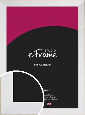 Easy Going Timeless White Picture Frame, A2 (420x594mm) (VRMP-1003-A2)