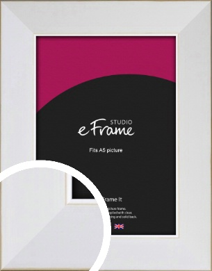 Easy Going Timeless White Picture Frame, A5 (148x210mm) (VRMP-1003-A5)