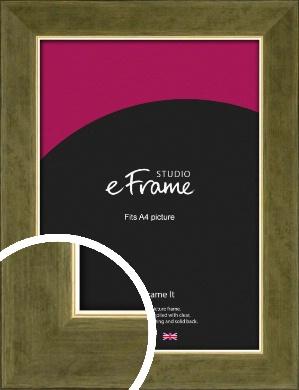 Dark Metallic Gold Picture Frame, A4 (210x297mm) (VRMP-1005-A4)