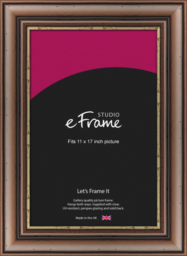 Knotted Dark Brown Picture Frame 11x17 Eframe