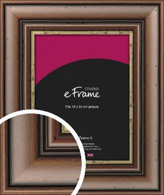 Knotted Dark Brown Picture Frame, 18x24cm (VRMP-180-18x24cm)